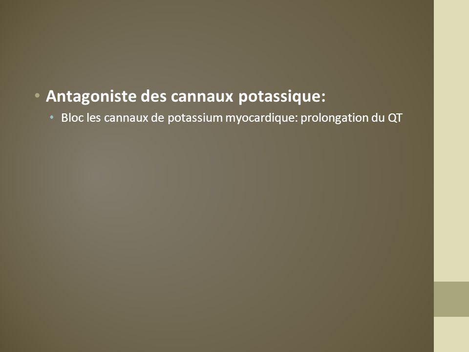Antagoniste des cannaux potassique: