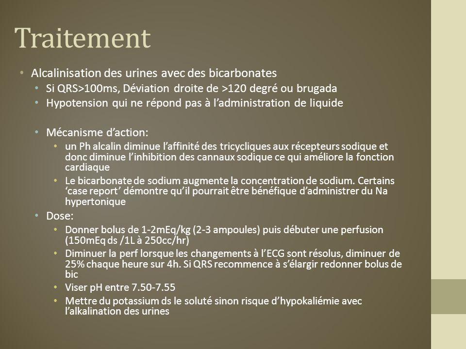 Traitement Alcalinisation des urines avec des bicarbonates