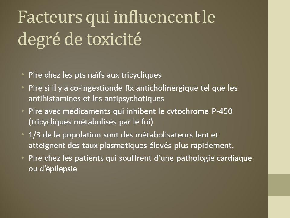 Facteurs qui influencent le degré de toxicité
