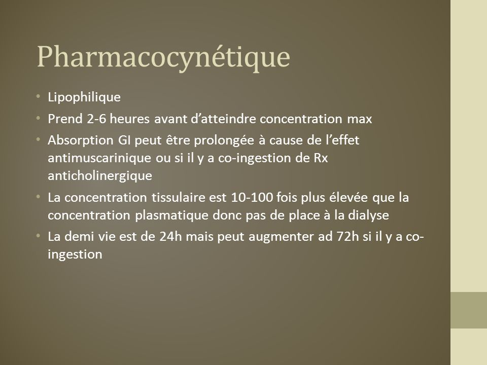 Pharmacocynétique Lipophilique