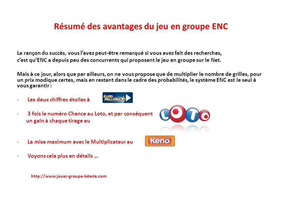 Résumé des avantages du jeu en groupe ENC