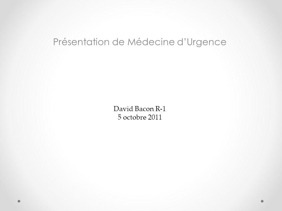 Présentation de Médecine d'Urgence