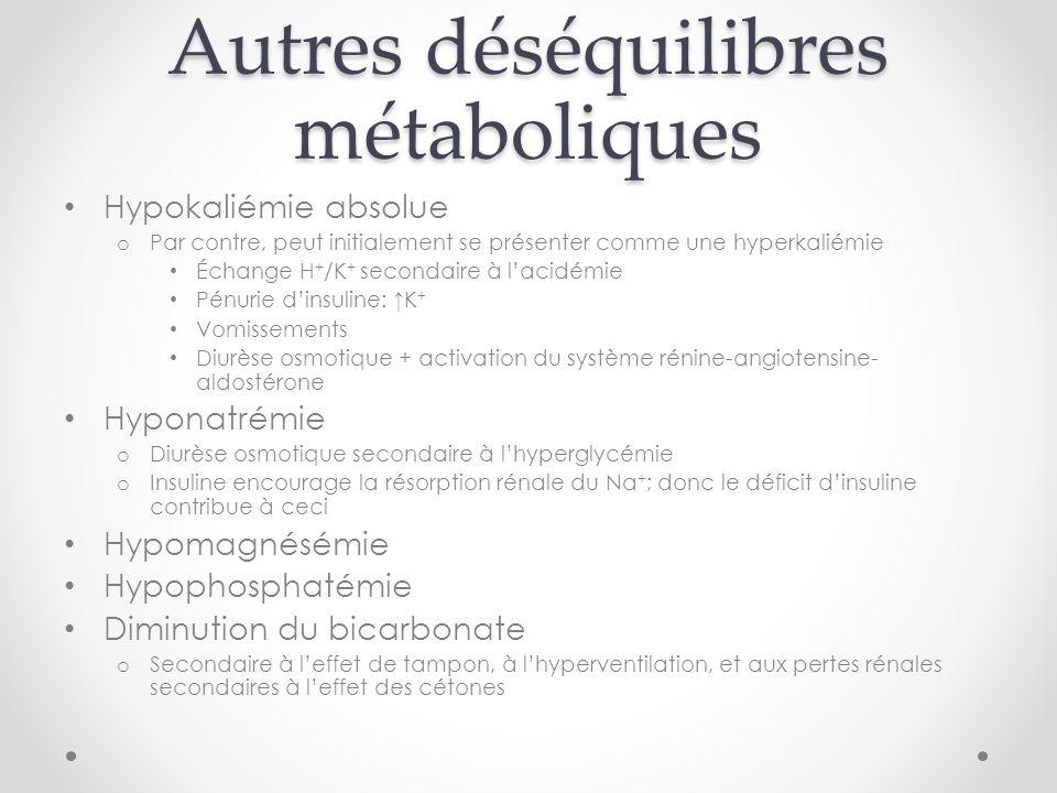 Autres déséquilibres métaboliques
