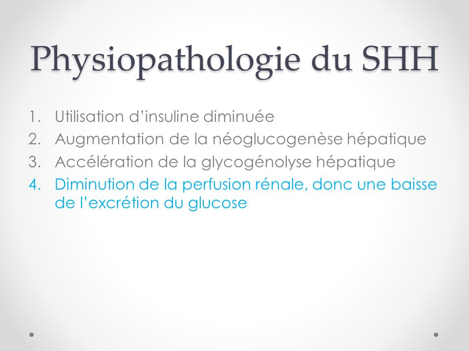 Physiopathologie du SHH