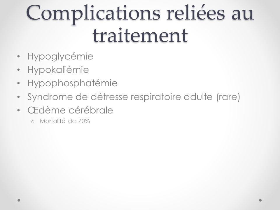 Complications reliées au traitement