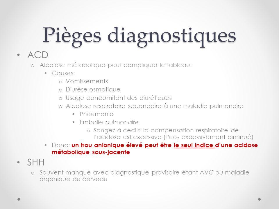 Pièges diagnostiques ACD SHH