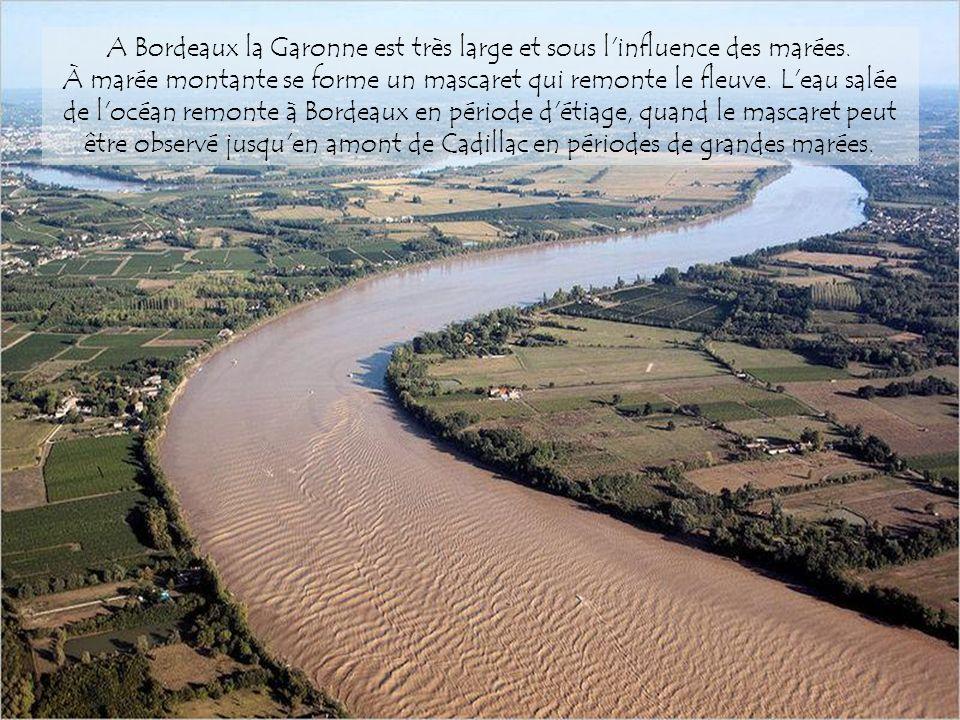 A Bordeaux la Garonne est très large et sous l influence des marées
