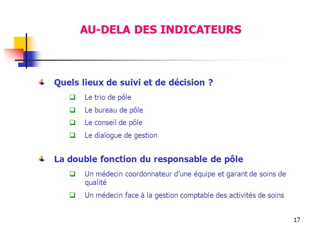 AU-DELA DES INDICATEURS