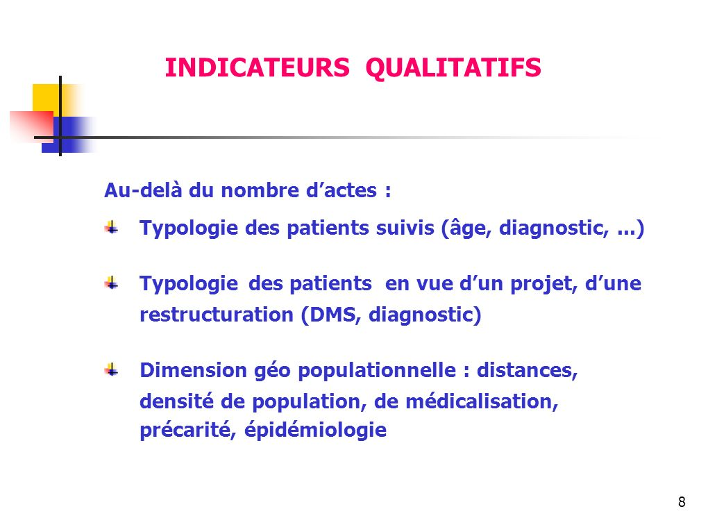 INDICATEURS QUALITATIFS