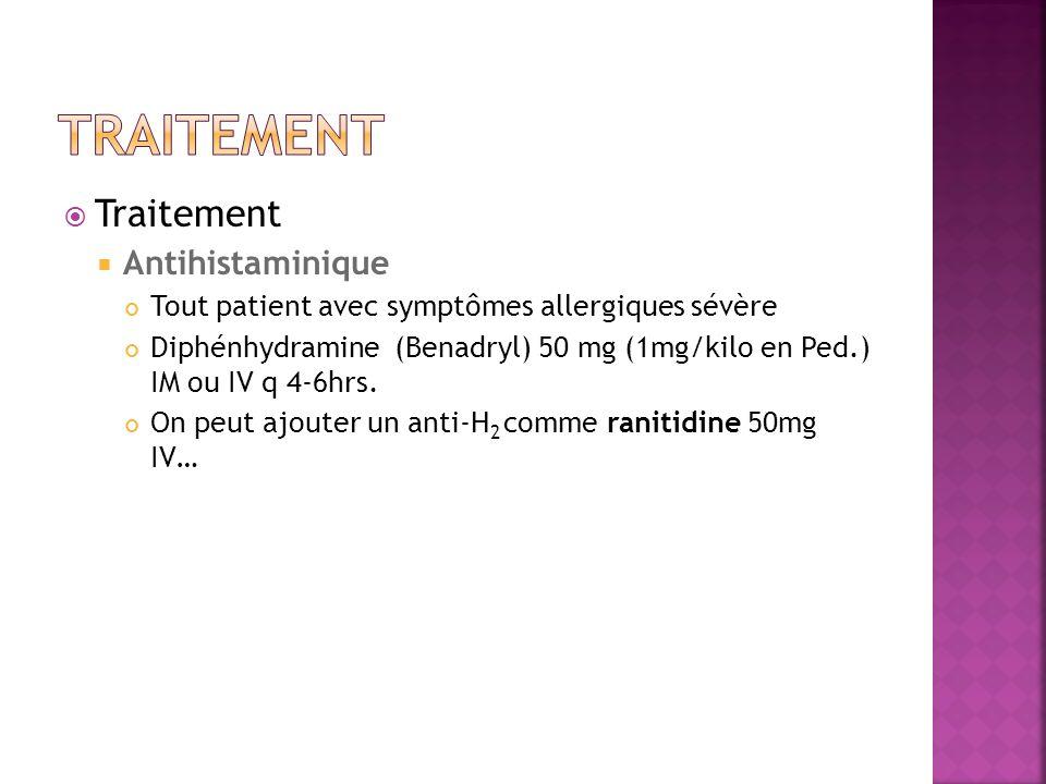 Traitement Traitement Antihistaminique