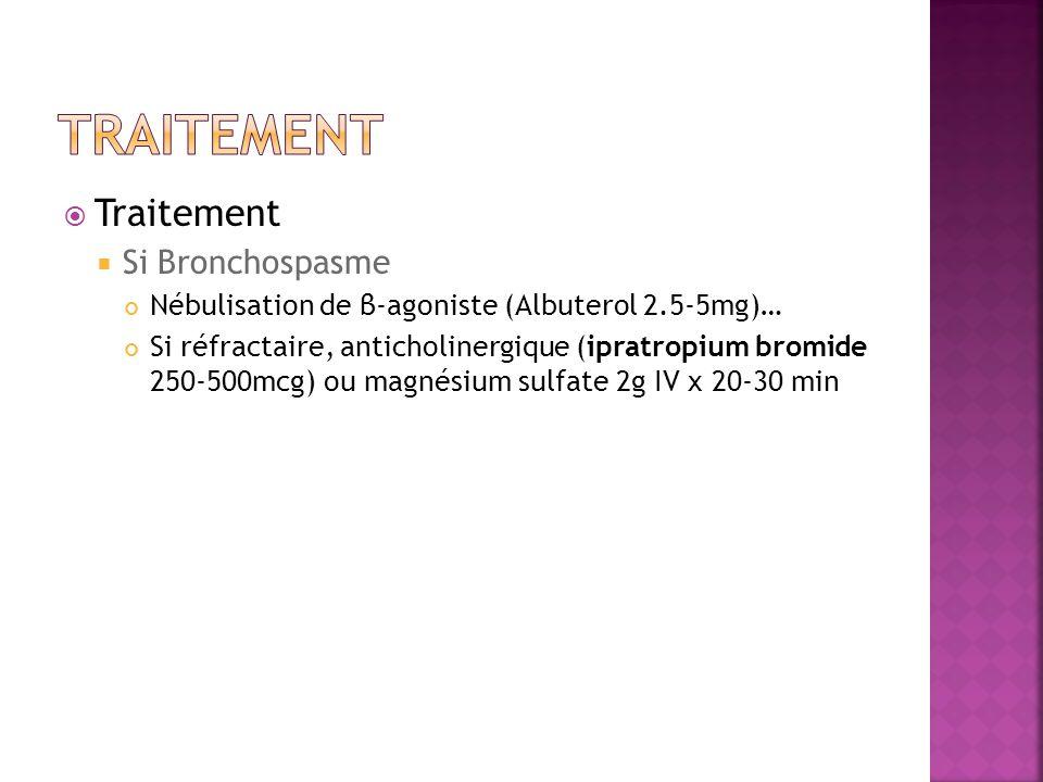 Traitement Traitement Si Bronchospasme