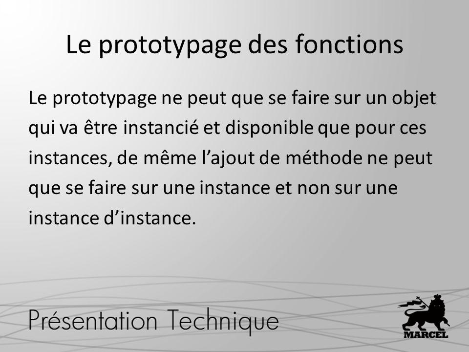 Le prototypage des fonctions