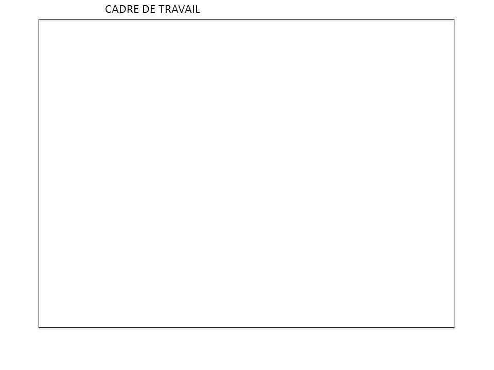 CADRE DE TRAVAIL
