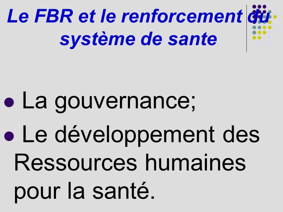 Le FBR et le renforcement du système de sante