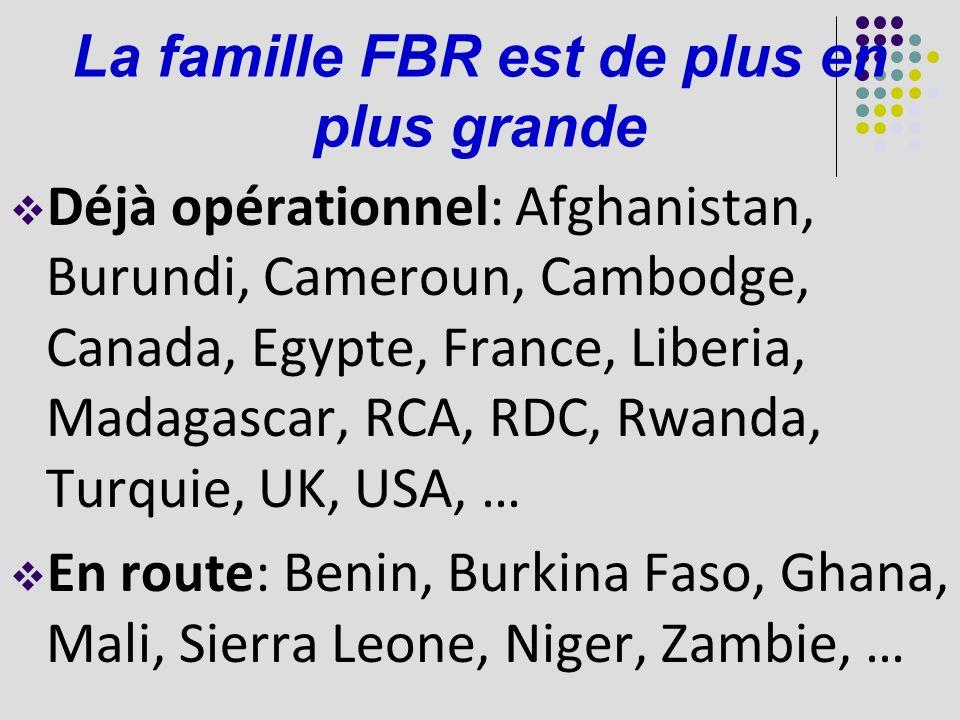 La famille FBR est de plus en plus grande