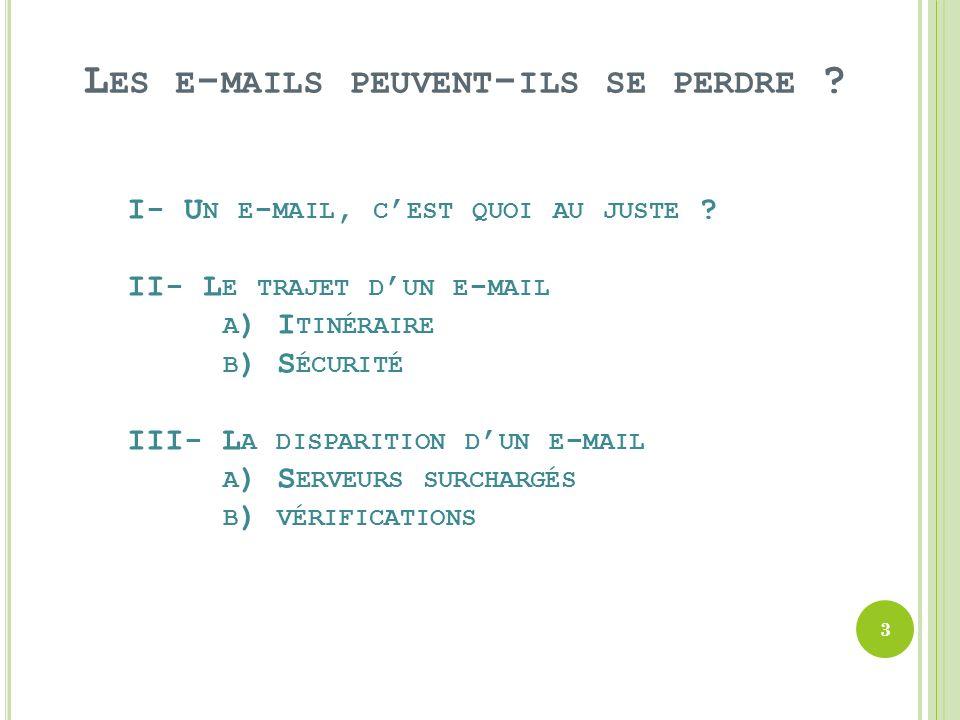 Les e-mails peuvent-ils se perdre