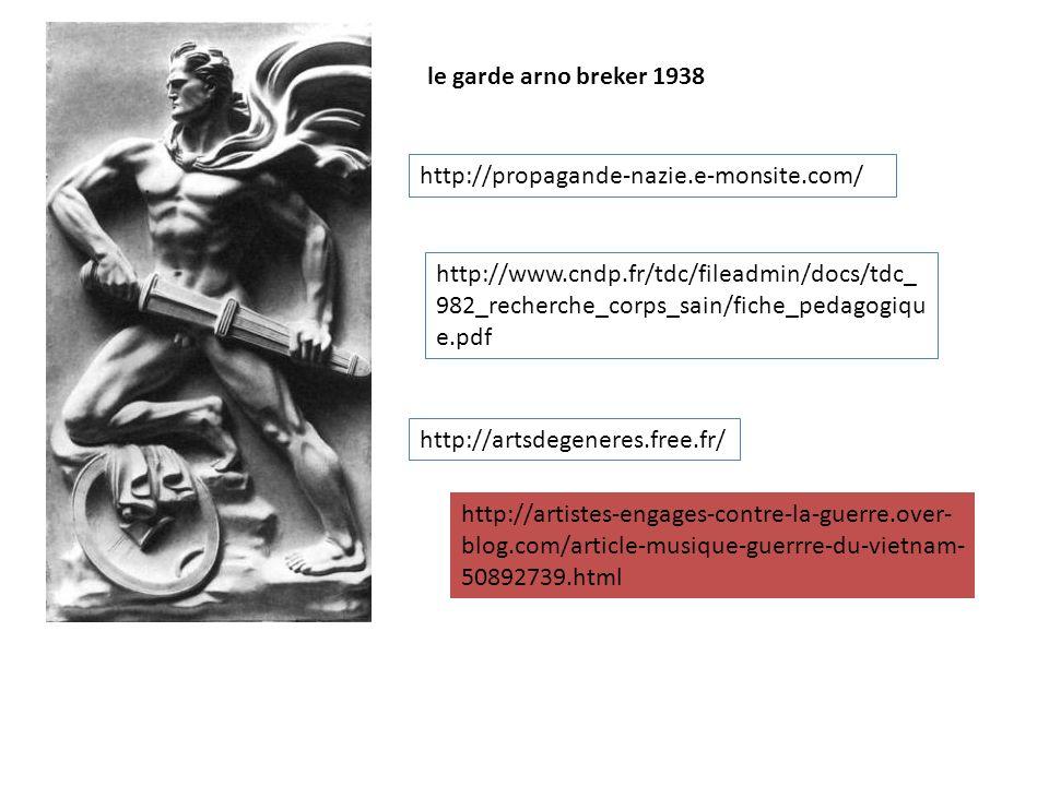 le garde arno breker 1938 http://propagande-nazie.e-monsite.com/
