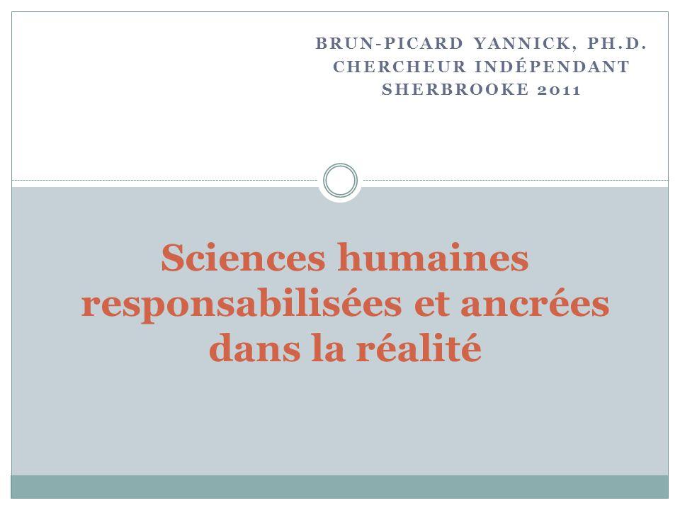 Sciences humaines responsabilisées et ancrées dans la réalité
