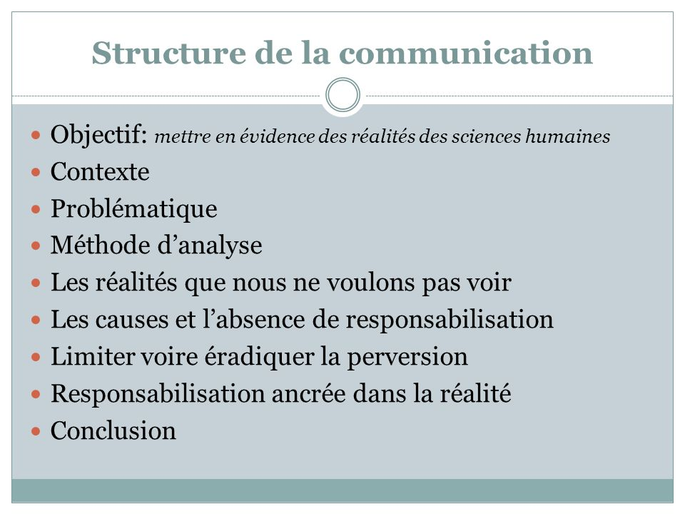 Structure de la communication