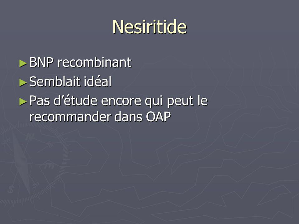 Nesiritide BNP recombinant Semblait idéal