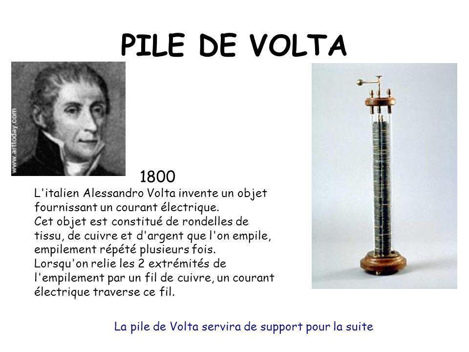 La pile de Volta servira de support pour la suite