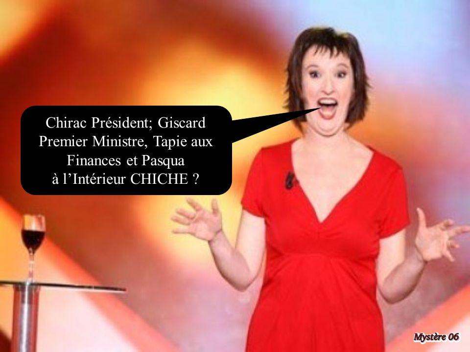 Chirac Président; Giscard Premier Ministre, Tapie aux Finances et Pasqua