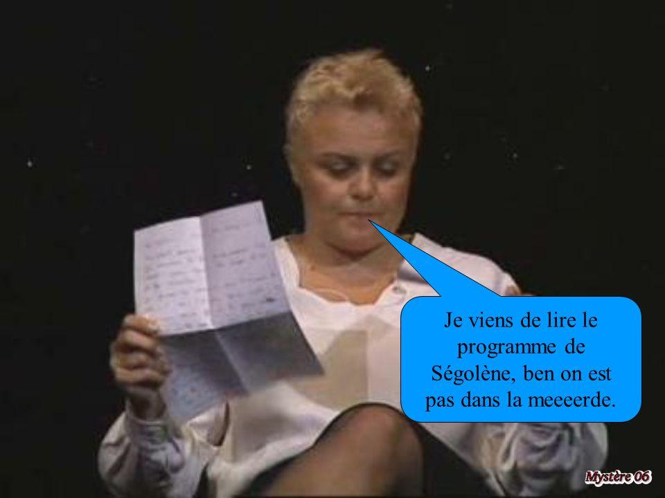 Je viens de lire le programme de Ségolène, ben on est pas dans la meeeerde.