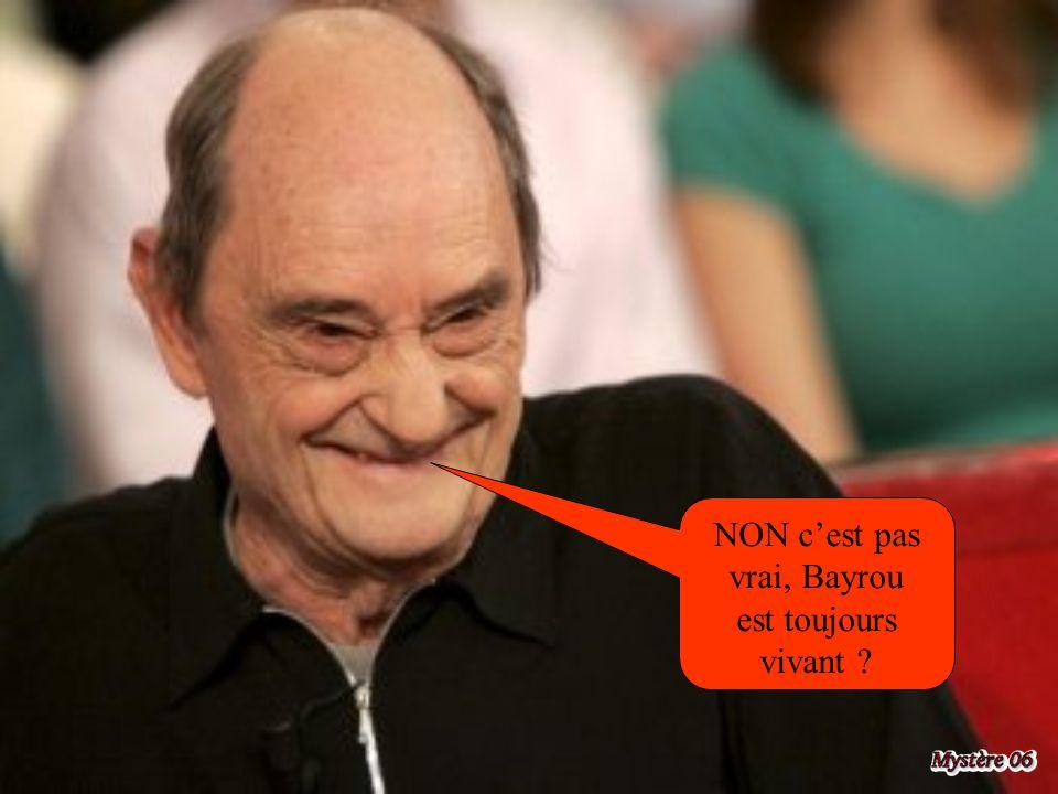 NON c'est pas vrai, Bayrou est toujours vivant