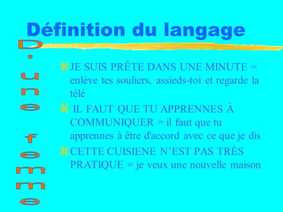 Définition du langage D une femme