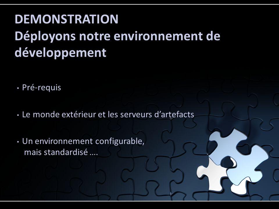 DEMONSTRATION Déployons notre environnement de développement