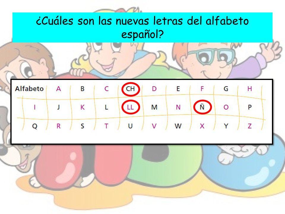 ¿Cuáles son las nuevas letras del alfabeto español