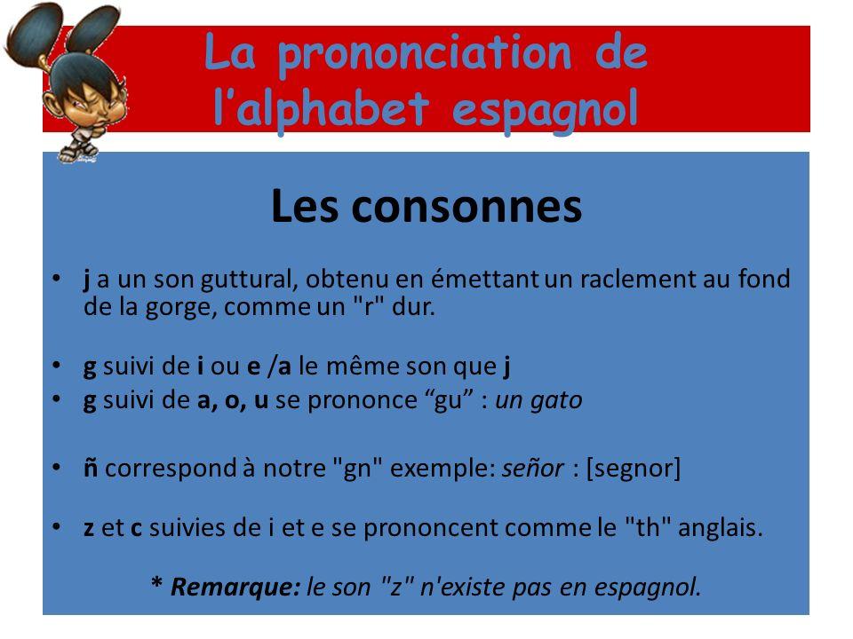 La prononciation de l'alphabet espagnol