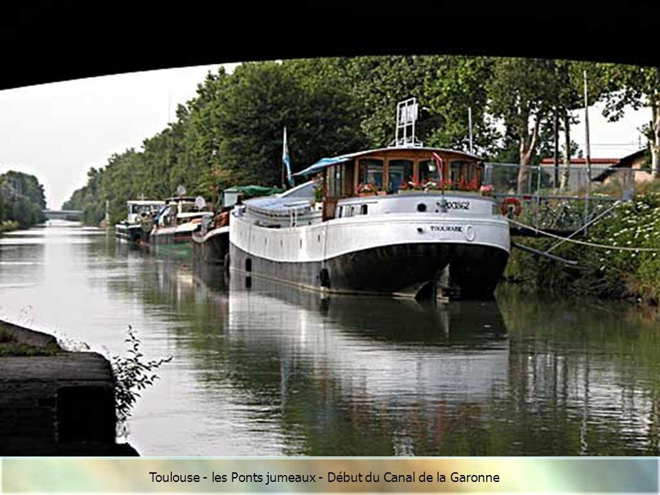 Toulouse - les Ponts jumeaux - Début du Canal de la Garonne
