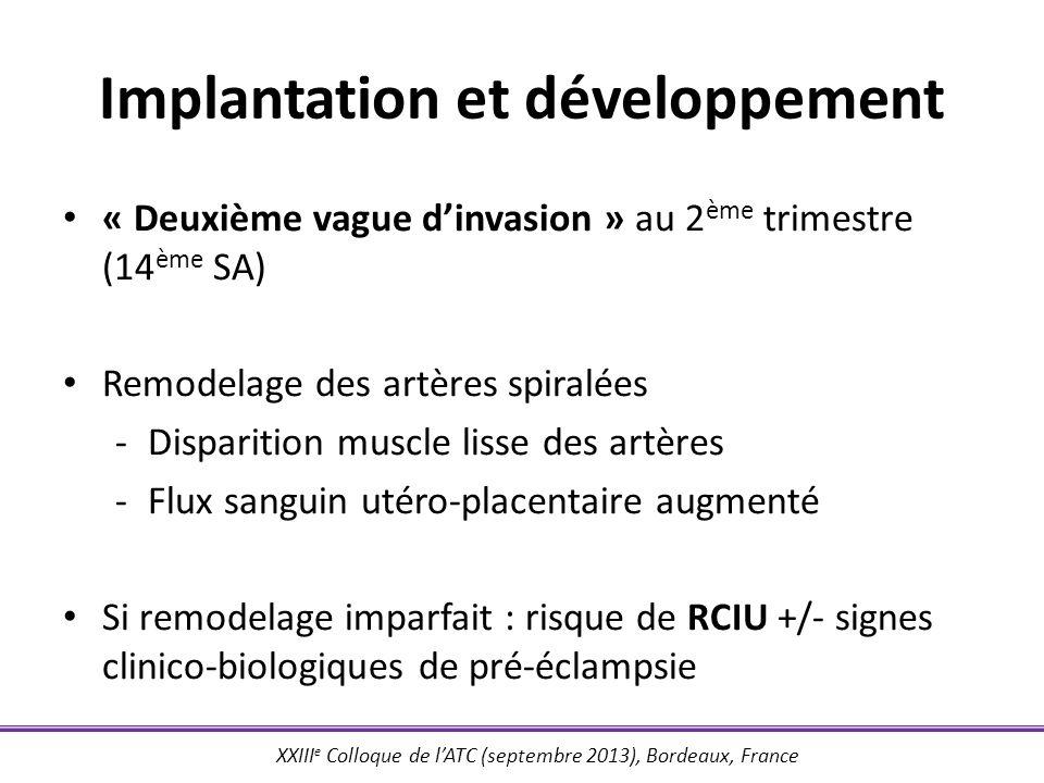 Implantation et développement