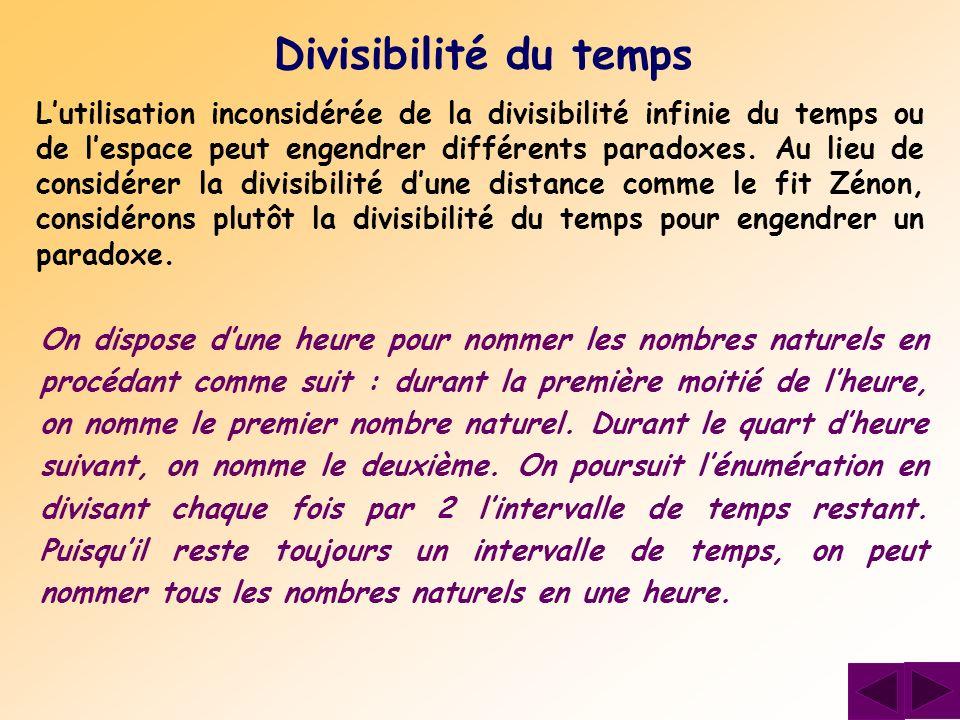 Divisibilité du temps