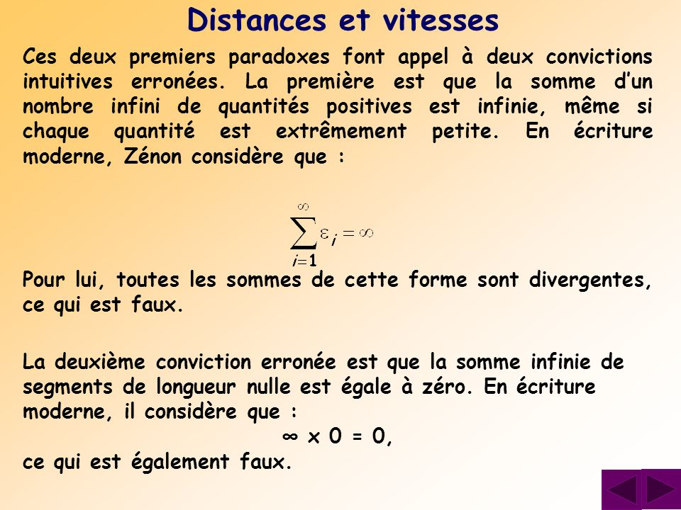 Distances et vitesses