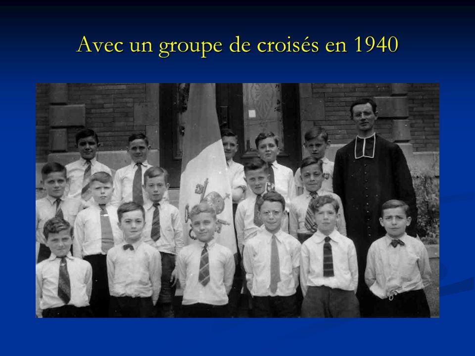 Avec un groupe de croisés en 1940
