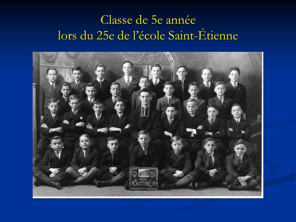 Classe de 5e année lors du 25e de l'école Saint-Étienne