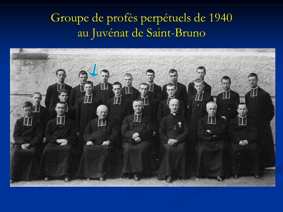 Groupe de profès perpétuels de 1940 au Juvénat de Saint-Bruno