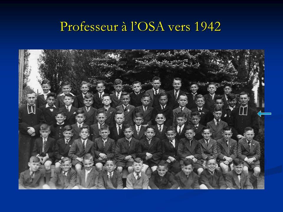 Professeur à l'OSA vers 1942