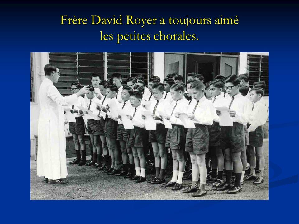 Frère David Royer a toujours aimé les petites chorales.