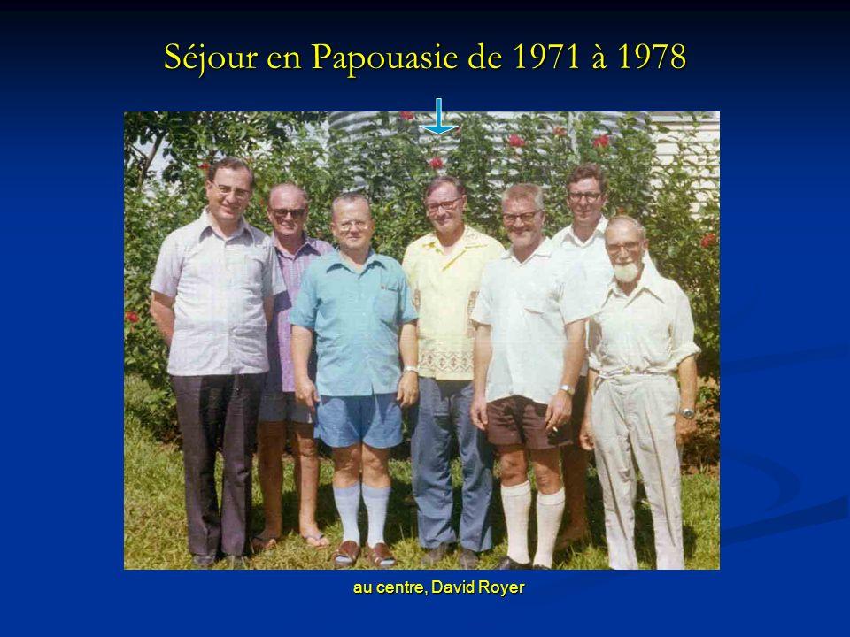 Séjour en Papouasie de 1971 à 1978