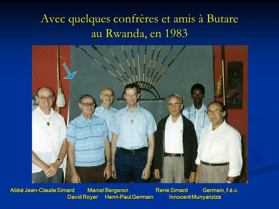 Avec quelques confrères et amis à Butare au Rwanda, en 1983