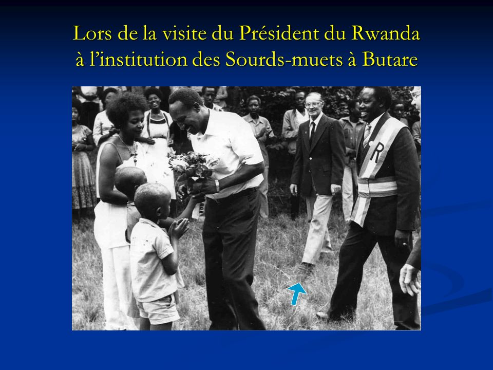 Lors de la visite du Président du Rwanda à l'institution des Sourds-muets à Butare