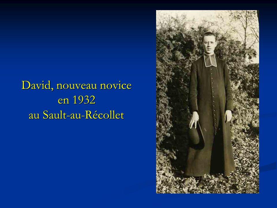 David, nouveau novice en 1932 au Sault-au-Récollet