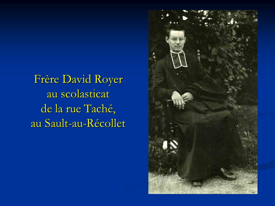 Frère David Royer au scolasticat de la rue Taché, au Sault-au-Récollet