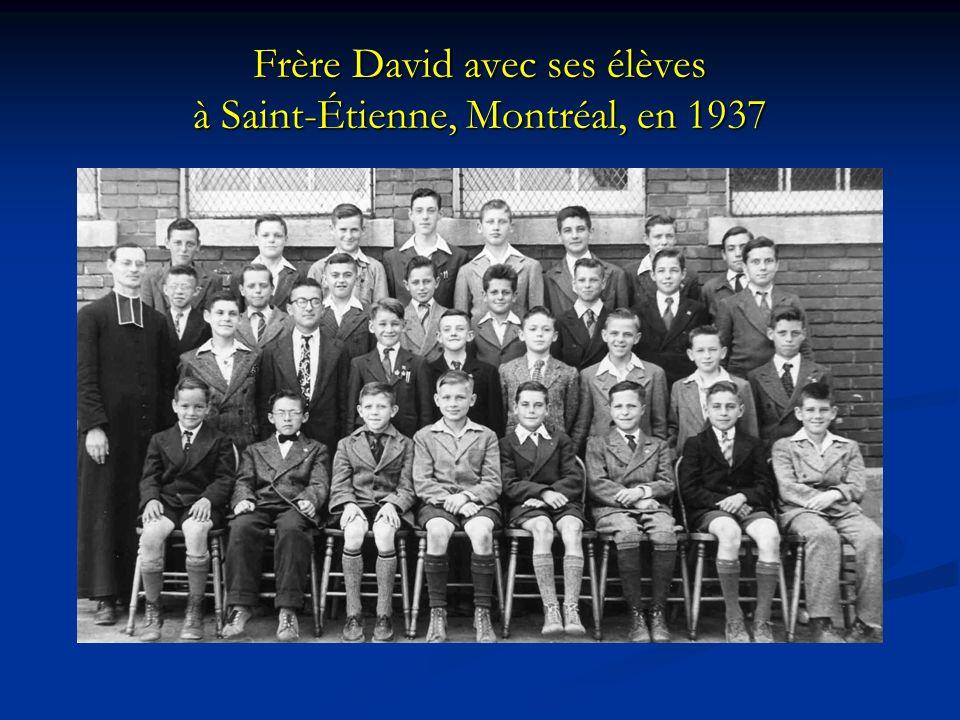 Frère David avec ses élèves à Saint-Étienne, Montréal, en 1937