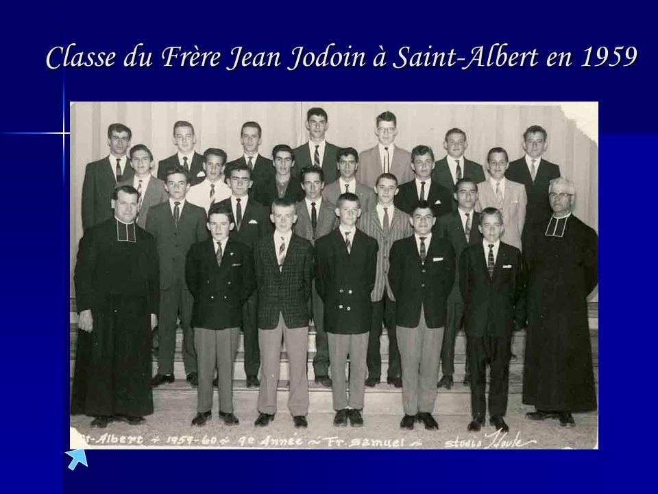 Classe du Frère Jean Jodoin à Saint-Albert en 1959
