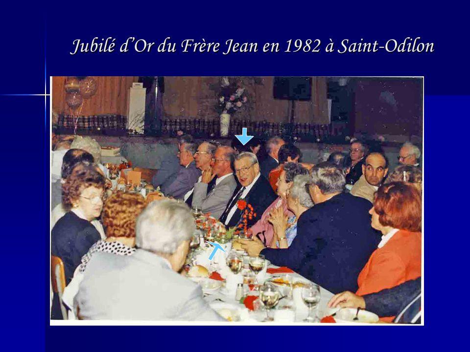 Jubilé d'Or du Frère Jean en 1982 à Saint-Odilon