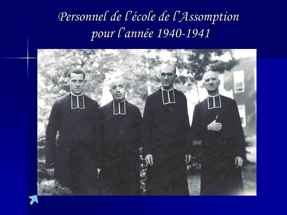 Personnel de l'école de l'Assomption pour l'année 1940-1941